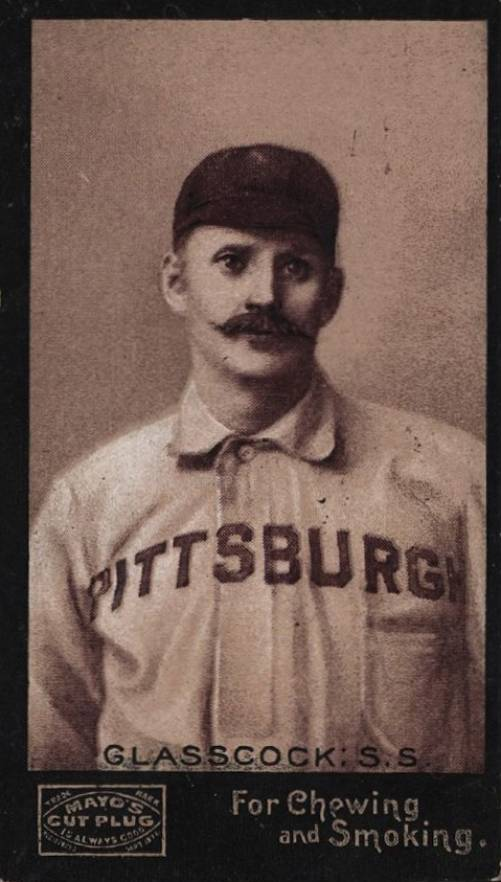 1895 Mayo's Cut Plug GLASSCOCK: S.S. #19 Baseball Card
