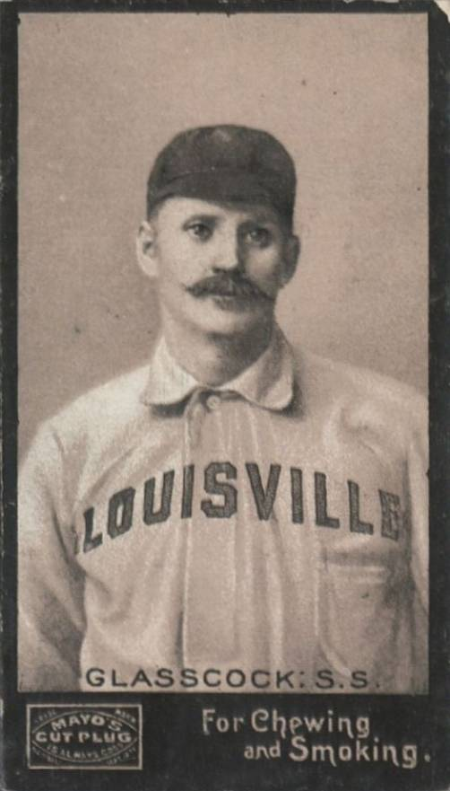 1895 Mayo's Cut Plug GLASSCOCK: S.S. #18 Baseball Card