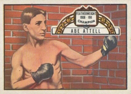 1951 Topps Ringside Boxing Abe Attell #60 Boxing & Other Card
