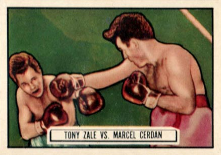 1951 Topps Ringside Boxing Tony Zale #44 Boxing & Other Card