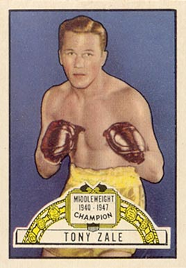 1951 Topps Ringside Boxing Tony Zale #30 Boxing & Other Card
