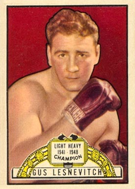 1951 Topps Ringside Boxing Gus Lesnevitch #1 Boxing & Other Card