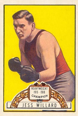 1951 Topps Ringside Boxing Jess Willard #51 Boxing & Other Card