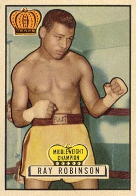 1951 Topps Ringside Boxing Ray Robinson #43 Boxing & Other Card