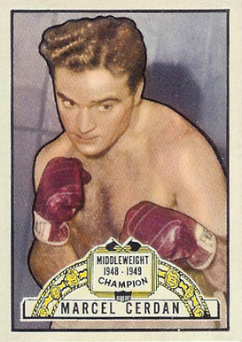1951 Topps Ringside Boxing Marcel Cerdan #5 Boxing & Other Card