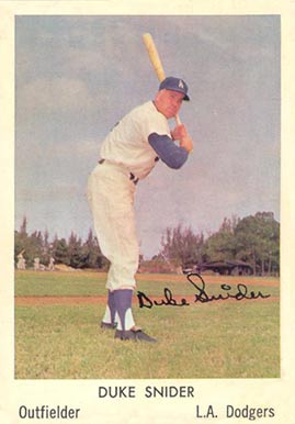 1960 Bell Brand Dodgers Duke Snider #2 Baseball Card
