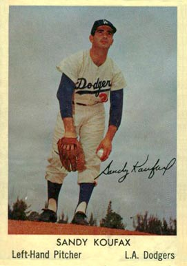 1960 Bell Brand Dodgers Sandy Koufax #9 Baseball Card