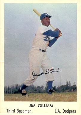 1960 Bell Brand Dodgers Jim Gilliam #4 Baseball Card