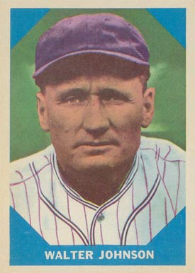 1960 Fleer Baseball Greats Walter Johnson #6 Baseball Card