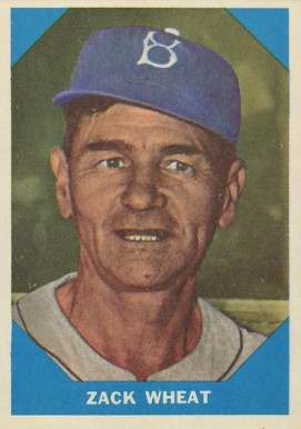 1960 Fleer Baseball Greats Zach Wheat #12 Baseball Card