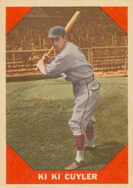1960 Fleer Baseball Greats Kiki Cuyler #75 Baseball Card