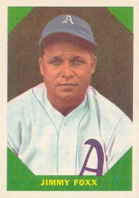 Jimmie Foxx Hall Of Fame Baseball Cards