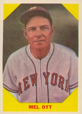 1960 Fleer Baseball Greats Mel Ott 36 Baseball Vcp Price Guide