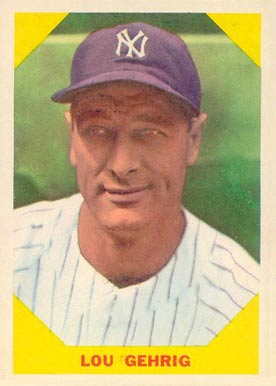 1960 Fleer Baseball Greats Lou Gehrig #28 Baseball Card