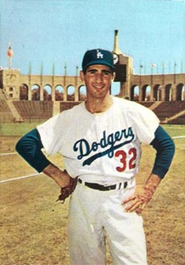 1960 Morrell Meat Dodgers Sandy Koufax #6 Baseball Card
