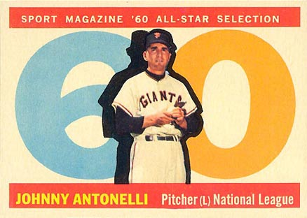 1960 Topps Johnny Antonelli #572 Baseball Card