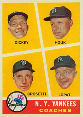 1960 Topps Frank Crosetti #465 Baseball Card