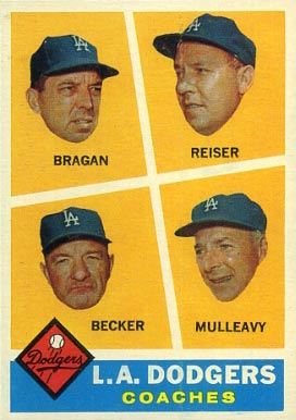 1960 Topps Dodgers Coaches #463 Baseball Card