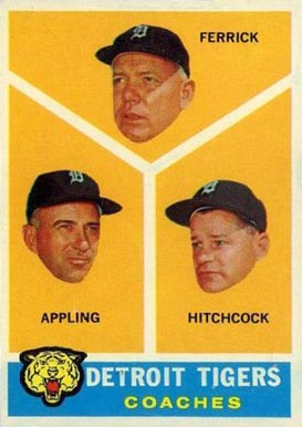 1960 Topps Tigers Coaches #461 Baseball Card