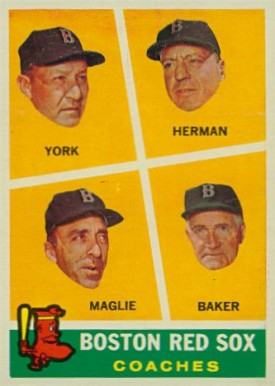 1960 Topps Red Sox Coaches #456 Baseball Card