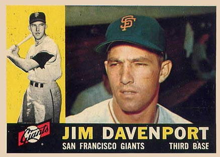 1960 Topps Jim Davenport #154 Baseball Card