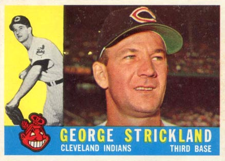 1960 Topps George Strickland #63 Baseball Card