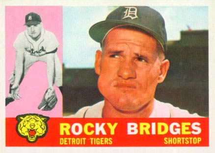 1960 Topps Rocky Bridges #22 Baseball Card