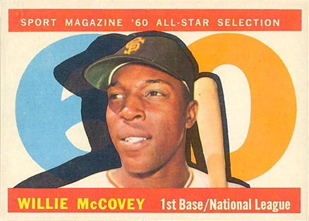 1960 Topps Willie McCovey #554 Baseball Card