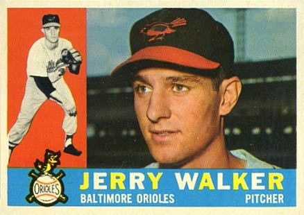 1960 Topps Jerry Walker #540 Baseball Card