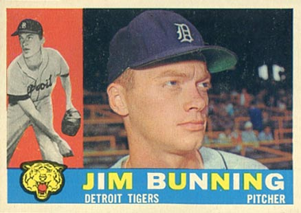 1960 Topps Jim Bunning #502 Baseball Card