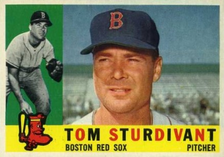 1960 Topps Tom Sturdivant #487 Baseball Card