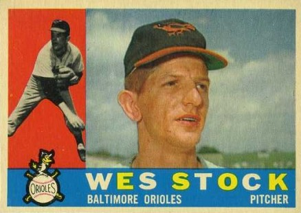 1960 Topps Wes Stock #481 Baseball Card