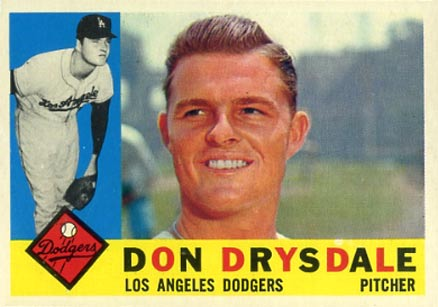 1960 Topps Don Drysdale #475 Baseball Card