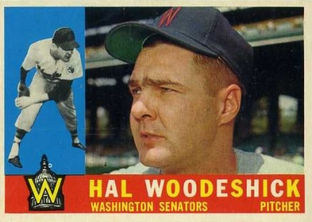 1960 Topps Hal Woodeshick #454 Baseball Card