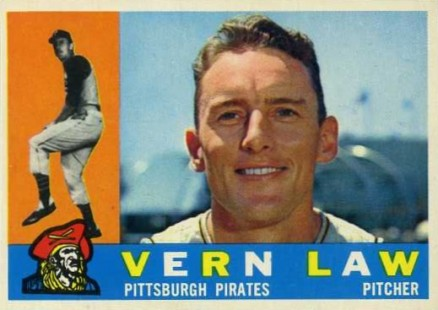 1960 Topps Vern Law #453 Baseball Card