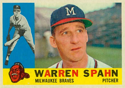 1960 Topps Warren Spahn #445 Baseball Card