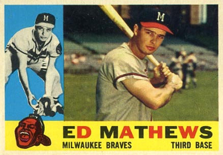 1960 Topps Eddie Mathews #420 Baseball Card
