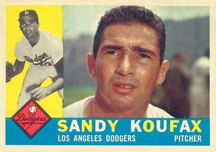 1960 Topps Sandy Koufax #343 Baseball Card
