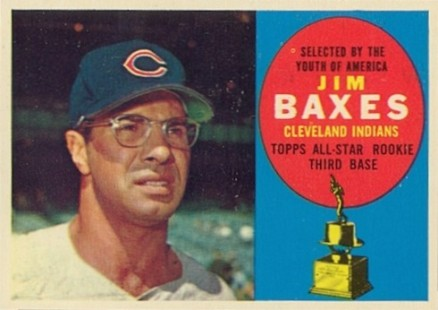 1960 Topps Jim Baxes #318 Baseball Card