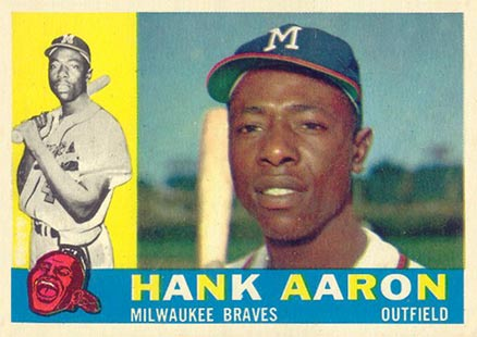 1960 Topps Hank Aaron #300 Baseball Card