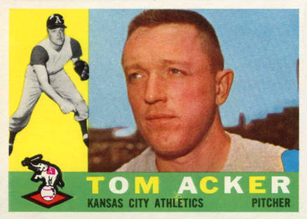1960 Topps Tom Acker #274 Baseball Card