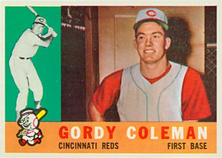 1960 Topps Gordy Coleman #257 Baseball Card