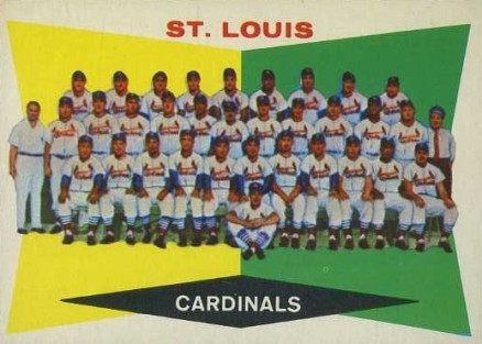 1960 Topps St. Louis Cardinals Team #242 Baseball Card