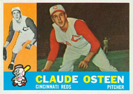 1960 Topps Claude Osteen #206 Baseball Card