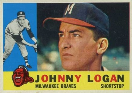 1960 Topps Johnny Logan #205 Baseball Card