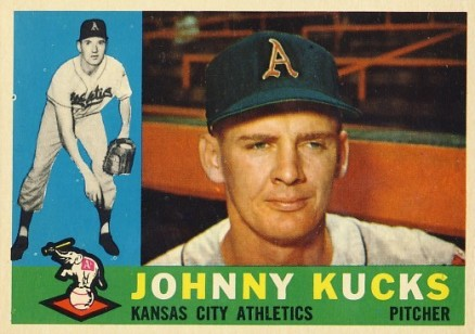 1960 Topps Johnny Kucks #177 Baseball Card