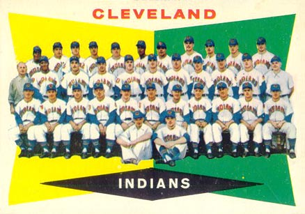 1960 Topps Cleveland Indians Team #174 Baseball Card