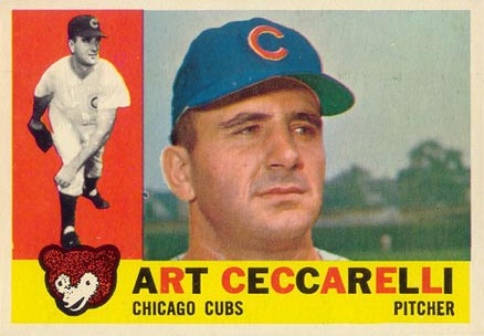 1960 Topps Art Ceccarelli #156 Baseball Card