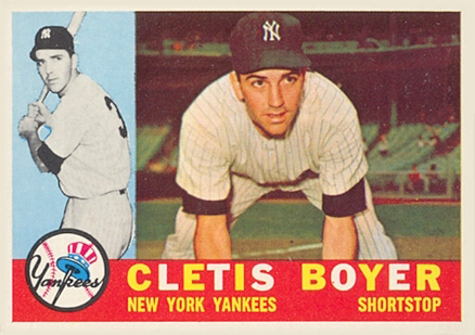 1960 Topps Cletis Boyer #109 Baseball Card