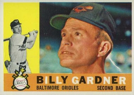 1960 Topps Billy Gardner #106 Baseball Card